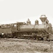 California Northwestern Railroad #30 4-6-0 Baldwin Locomotive Works Circa 1905 Art Print