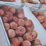 California Peaches Art Print