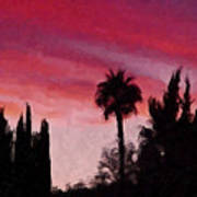 California Sunset Painting 1 Art Print