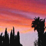 California Sunset Painting 3 Art Print