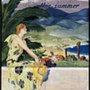 California This Summer - Travel By Train - Vintage Poster Folded Art Print