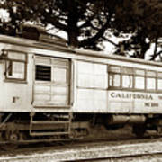 California Western  M 100 Gas Railcar  Skunk Train  Circa 1930 Art Print