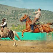 Californios Burns Ranch Bronc 2012 Art Print