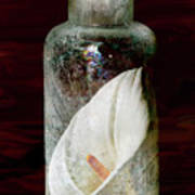 Calla Lily In A Bottle Art Print