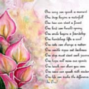 Callas   Poem Art Print
