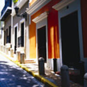 Calle Del Sol Old San Juan Puerto Rico Art Print by George Oze