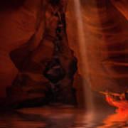 Calling The Light Beam- Upper Antelope Canyon Art Print