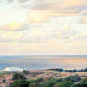 Calm Sea... View From My Balkon Art Print