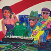 Calogs Frog Blues Band Art Print