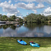 Caloosahatchee Kayaking Art Print
