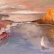 Calpe At Sunset Art Print by Miki De Goodaboom