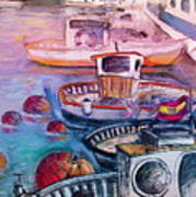 Calpe Harbour 03 Art Print