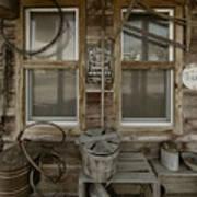 Calvins Garage In Deshler Nebraska Art Print