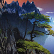 Calypso Mountains Oil On Canvas Art Print