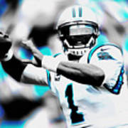 Cam Newton Letting It Fly Art Print