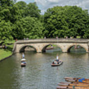 Cambridge Punting On The River Art Print