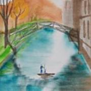Cambridge River View Art Print