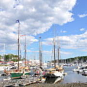 Camden Maine Harbor Art Print