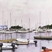 Camden Maine Marina Art Print