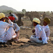 Camel Traders Pushkar Art Print