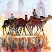 Camelrider Art Print