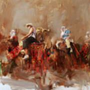 Camels And Desert 14 Art Print