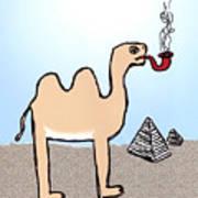 Camels Don't Smoke Pipes Art Print