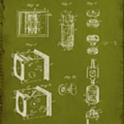 Camera Patent Drawing 2g Art Print