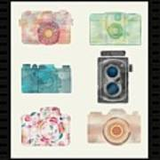 Cameras Of Today And Yesteryear Art Print