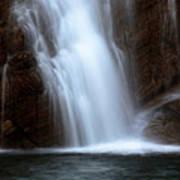 Cameron Falls In Waterton Lakes National Park Of Alberta Art Print