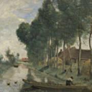 Camille Corot   Landscape At Arleux Du Nord Art Print