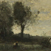 Camille Corot   The Wood Gatherer Art Print