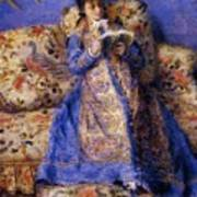 Camille Monet Reading 1872 Art Print
