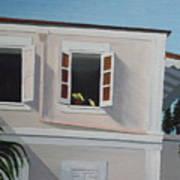 Camille Pissaro Courtyard Print by Robert Rohrich