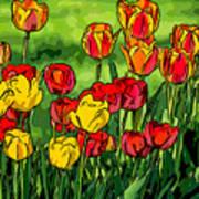 Camille's Tulips Art Print