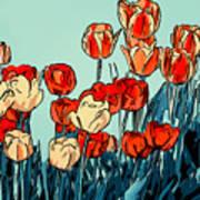Camille's Tulips - Version 3 Art Print