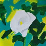 Camo Calla Lilly Art Print