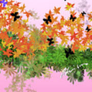 Camo Nature Range Art Print