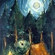Camp At Night Art Print