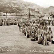 Camp San Luis Obispo Army Base 40th Division Photo 143rd Field Artillery 1941 Art Print
