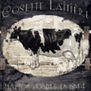 Campagne I French Cow Farm Art Print