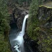 Campbell River Rain Forest Falls Art Print