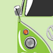 Camper Green Print by Michael Tompsett