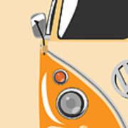 Camper Orange Art Print by Michael Tompsett