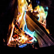 Campfire In July Art Print