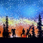 Campfire Tales Art Print