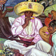 Camping Zapatistas, 1922 Art Print