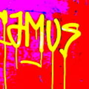 Camus ... Graffitied  Art Print