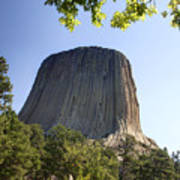 Can You Find The Climbers On Devils Tower Wyoming -1 Art Print