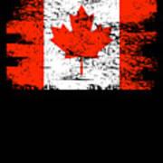 Canada Flag Gift Country Patriotic Travel Shirt Americas Light Art Print